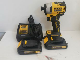 L325) Dewalt 20v Impact Driver With 2 Batteries And Charger for Sale in Riverside,  CA