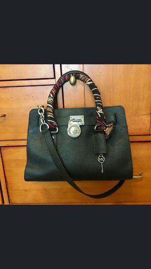 MK Hamilton Saffiano Black Leather Medium for Sale in Sun City, AZ