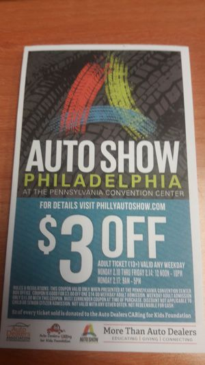 Philly auto show discounts for Sale in Trappe, PA