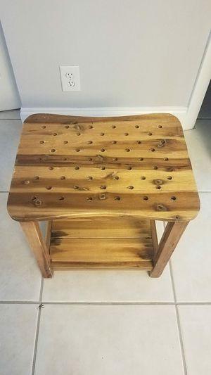 Wooden shower bench for Sale in Sunrise, FL