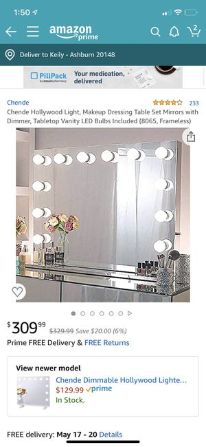 like new makeup vanity mirror led lights for Sale in Rochester, MN