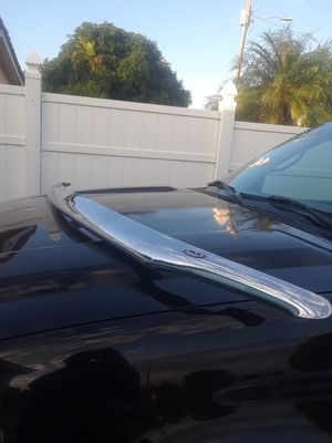Chrome hood strip fits 99 to 04 Chevy or GMC truck or SUV for Sale in Fort Lauderdale, FL