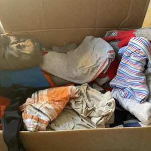 Big box of baby boy clothing for Sale in Fontana, CA