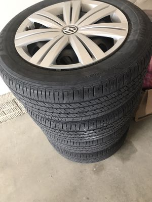 Tires with rims for volkswagen for Sale in Des Moines, IA