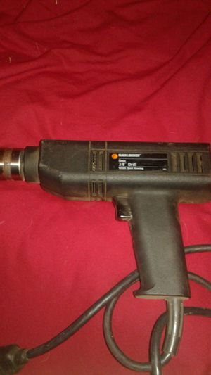 Black and decker 3/8 power drill corded for Sale in Phoenix, AZ