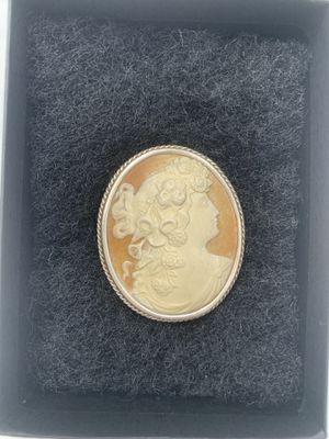 Antique Cameo Brooch Sterling Silver for Sale in El Segundo, CA
