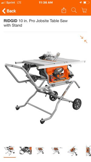 RIDGID 10 in. Pro Jobsite Table Saw with Stand for Sale in Pomona, CA