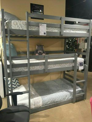 Twin size Triple Bunk bed 3 FREE MATTRESS for Sale in Las Vegas, NV