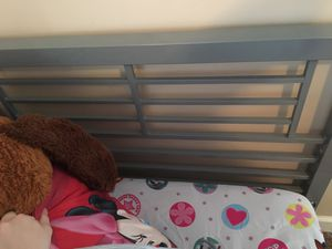 Metal grey twin bed frame for Sale in Elgin, SC