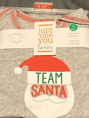 Christmas baby Carter's team Santa long sleeve baby suit for Sale in San Diego, CA