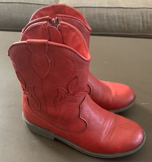 Girl Red boots size 1 for Sale in Bakersfield, CA