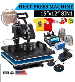 8 in 1 T-Shirt Heat Press Machine Digital Transfer Sublimation Mug Hat Plate Cap for Sale in El Monte, CA