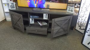 Oracle TV Stand up to 85in TVs, Distressed Grey, SKU 182290 for Sale in Garden Grove, CA