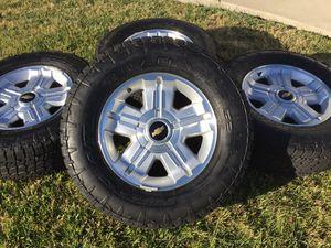 "18"" OEM Chevy Silverado Z71 Wheels & LIKE NEW Nitto Terra Grappler G2 Tires LT285/65R18 * Tahoe Suburban GMC for Sale in Antioch, CA"