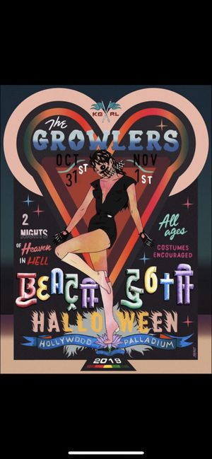 BEACH GOTH TICKET FOR NOV 1 for Sale in Irvine, CA