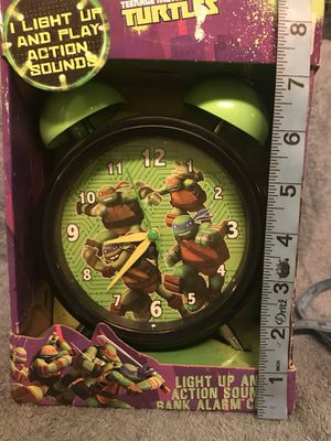 New Teenage Mutant Ninja Turtles Alarm Clock Bank Fun Gift for Turtle Fans! AA batteries included for Sale in Conroe, TX