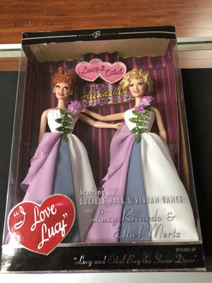 I Love Lucy Lucy Ricardo & Ethel Mertz Lucy and Ethel Buy the Same Dress Episode 69 Barbie Collector Mattel for Sale in La Habra, CA