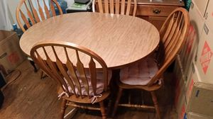 Dining room table and four chairs for Sale in Wenatchee, WA