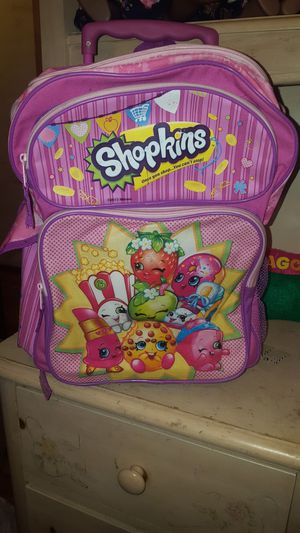 Shopkins rolling backpack for Sale in San Antonio, TX