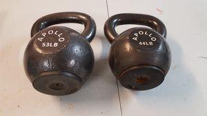 44 and 53 lb high end Apollo kettlebells for Sale in Santa Clarita, CA