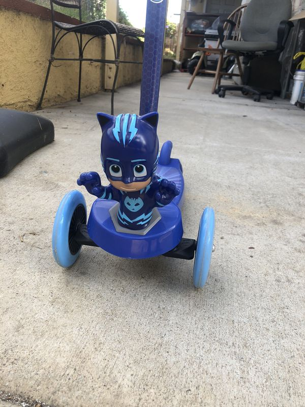 Boys scooter pj masks push and go blue used