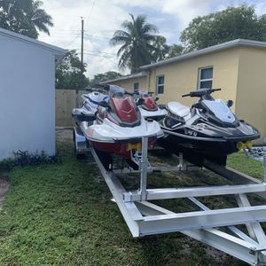 Jet ski jetski yetski yet ski Yamaha ExSport VX Seadoo Spark boat wave runner trailer for Sale in Hollywood, FL