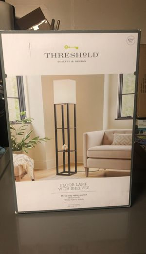 Floor lamp with shelves new never used black color for Sale in Perris, CA