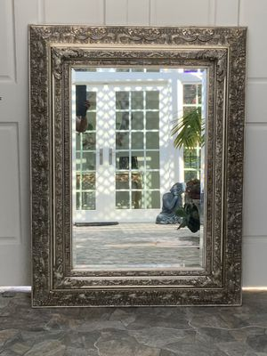 """50""""x39"""" double frame silver and have a little touch of gold mirror. This mirror has lots of detail and unique. Frame made of wood and has lots of det for Sale in Laguna Niguel, CA"""