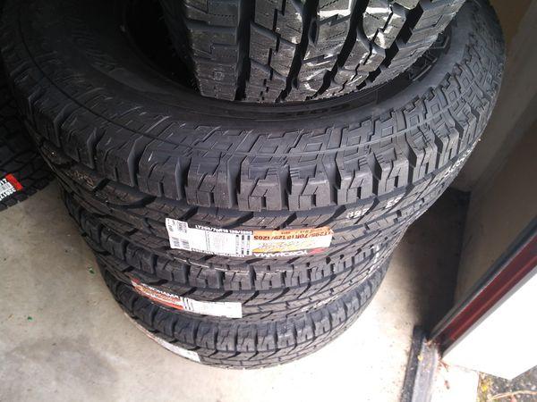 brand new Yokohama tires LT 295 70 18 inch tires 10 ply all terrains