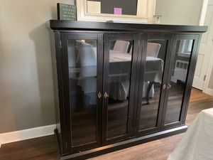 Great black dining cabinet ! for Sale in Bedford, MA