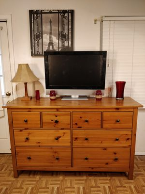 "Like new solid wood dresser/TV stand with 8 drawers in great condition, all drawers sliding smoothly, pet free smoke free. L63""*W20""*H38"" for Sale in Annandale, VA"