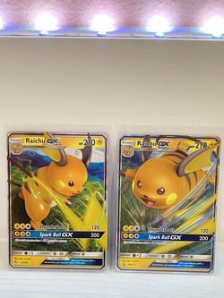 Raichu GX 20/68 Ultra Rare Holo & Raichu GX SM213 Ultra Rare for Sale in Hollywood,  FL