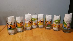Camp Snoopy Collection set of 8 glasses for Sale in Watauga, TX