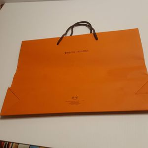 "Hermes Orange Shopping Gift Paper Bag . Size 11 x15x3.5"". for Sale in Campbell, CA"