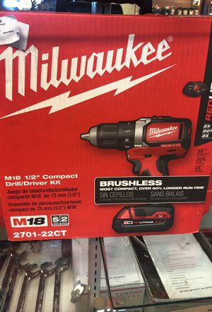 Milwaukee brushless drill/driver for Sale in Wenatchee, WA