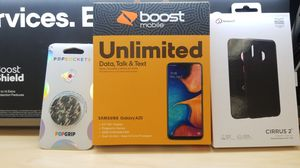 Samsung Galaxy A20 plus premium cases plus a popsocket for Sale in Layton, UT