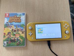 Switch Lite (yellow) + Animal Crossing: New Horizon for Sale in Berkeley, CA
