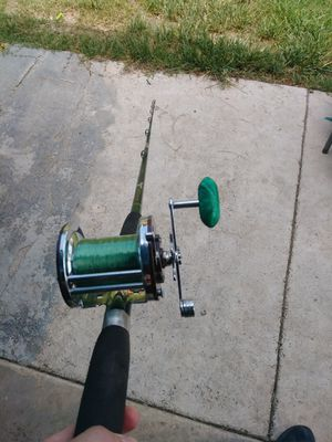 Fishing rod and reel for Sale in San Bernardino, CA