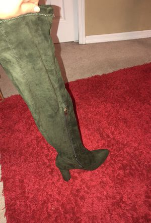 Olive Green Thigh High Boots for Sale in Kissimmee, FL