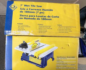 Table wet saw with 2 blades for Sale in Prospect, KY