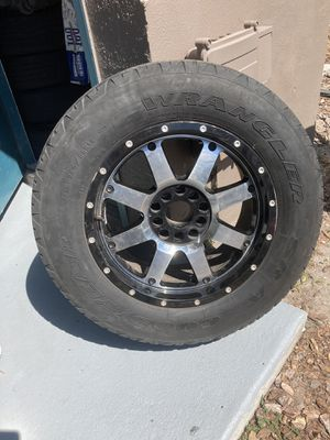 Set of 4 tires and rims 5x5 and 5x5.5 265/65 R18. for Sale in Tampa, FL