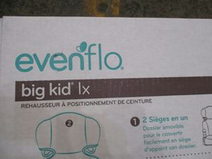 "1 Evenflo Big Kid LX """""""" High Back Booster Car Seat tatic Best and NEW for Sale in Clearfield, UT"