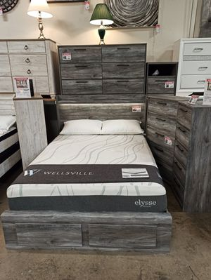 Queen Storage Bed Frame, Grey, #B221 for Sale in Norwalk, CA