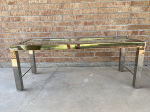 Mid Century Modern Chrome and Glass Coffee Table Milo Baughman Style for Sale in Litchfield Park, AZ