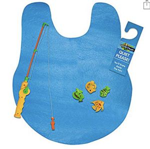NEW! Lets Go Fishing Magnetic Game – Potty Putter Toy Mini Fishing Pole 4 Magnetic Plastic Fishes Gone Fishing Sign as Toilet Bathroom Games Toddlers for Sale in Stuart, FL