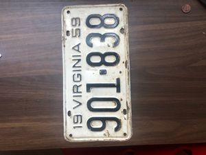 1959 Virginia Licence plate original for Sale in Boca Raton, FL