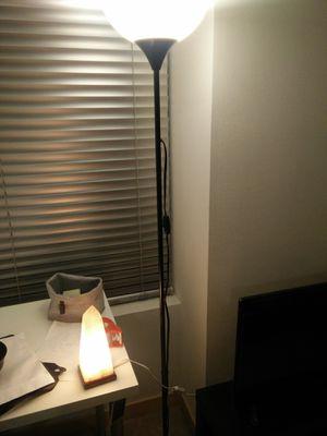 ikea lamp and himalayan salt lamp for Sale in Seattle, WA