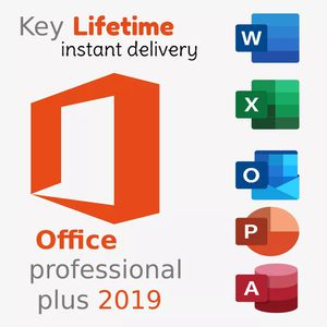 Ms office professional plus 2019 32/64bit license keys instant delivery for Sale in New York, NY