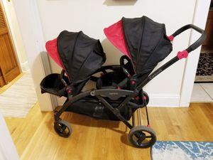 Contours options tandem double stroller with car seat adapter for Sale in Queens, NY
