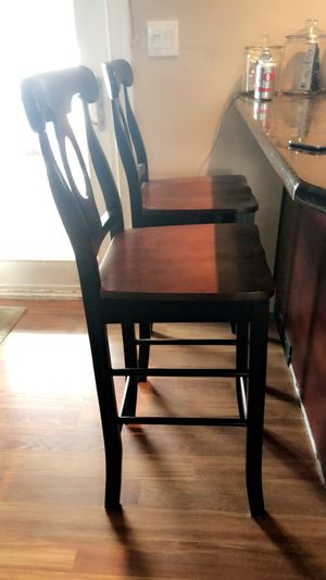 3 wood Bar stools 29in from seat to floor. $20 Each for Sale in Amityville, NY